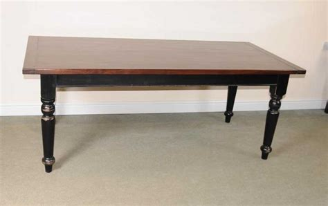 Farmhouse Oak Dining Table Oak Refectory Table Painted Base Kitchen Farmhouse Dining Tables