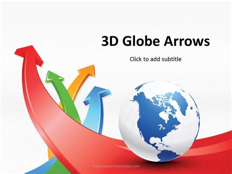 Free 3d Globe Arrows Powerpoint Template 3d Powerpoint Templates
