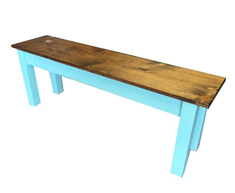 bench us vintage blue farmhouse bench shabby chick