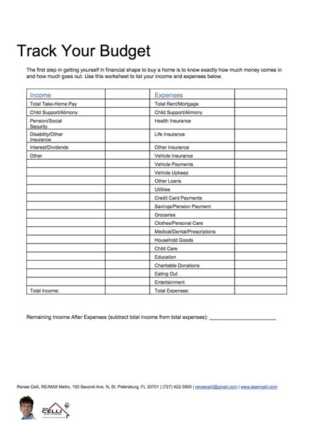 Use A Budget Worksheet To Prepare For Buying A Home Time Home Buyer Budget Template