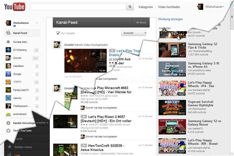 new youtube layout october 2012 neues youtube design im anmarsch schon wieder