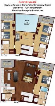 bay lake tower one bedroom villa floor plan review bay lake tower at disney s contemporary resort