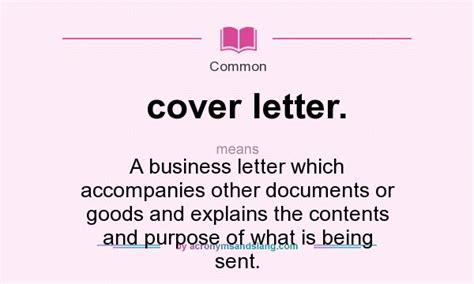 Explanation Letter Definition cover letter meaning in business 28 images business