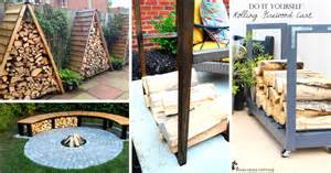 14 easy diy outdoor firewood racks to keep those logs perfectly safe page 2 of 3 cute diy