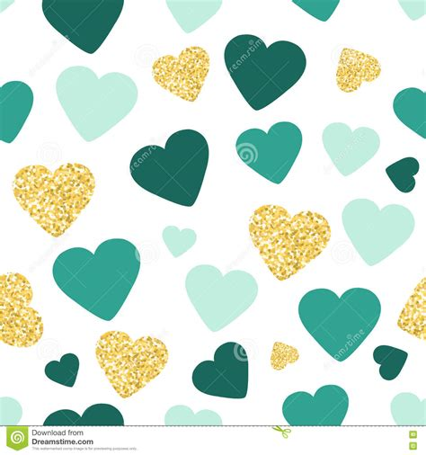 pattern your idea seamless pattern background with gold glitter and green