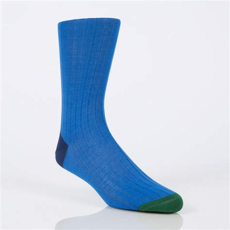 blue socks lyst paul smith s blue socks with contrasting heel and toe in blue for
