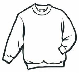 coloring cloth sweater winter clothes coloring page free coloring pages