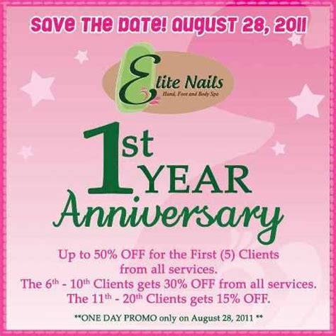 new year manicure promotion elite nails foot and spa up to 50 from