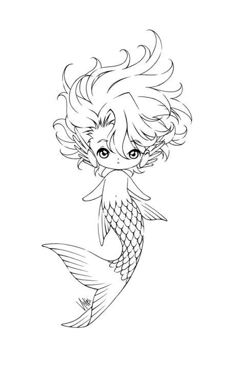 boy mermaid coloring page cutie boyz 02 by sureya on deviantart