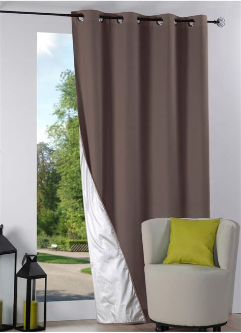 Rideaux Isolant Froid by Rideau Isolant 224 Oeillets Doubl 233 Taupe