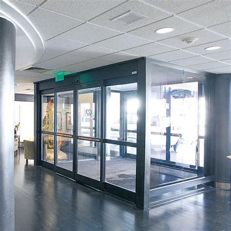 Commercial Sliding Doors by Dorma Esa 300 Commercial Breakout Automatic Sliding Door