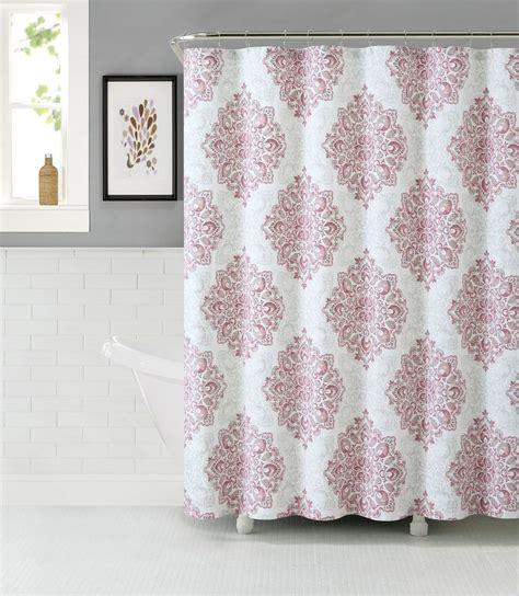 pink fabric shower curtain pink blush luxury home tranquility 100 cotton fabric