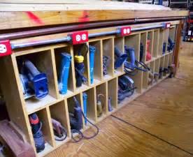 Garage Shovel Storage Ideas Workshop Power Tool Storage Ideas Plans Free