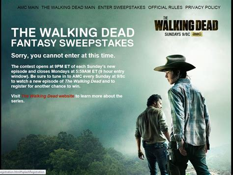 Walking Sweepstakes - amc s the walking dead fantasy sweepstakes