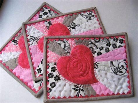 free pattern mug rug free quilt pattern heart glow mug rug pattern