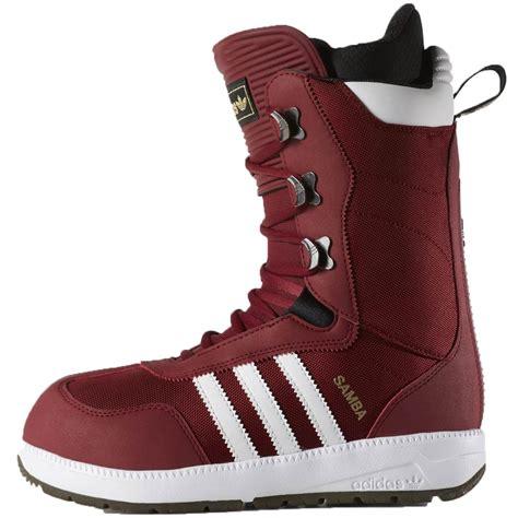 adidas snowboarding boots adidas the samba snowboard boots burgundy white black