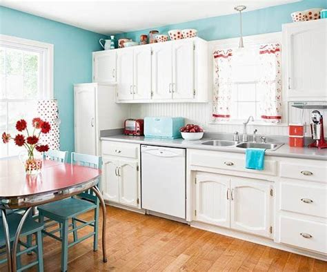 turquoise kitchen quot white retro kitchen laundry idea with red accents here