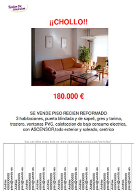 carteles de anuncios gratis tablondeanuncioscom