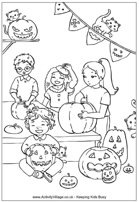detailed pumpkin coloring pages coloring carving pumpkins coloring page renae rude the