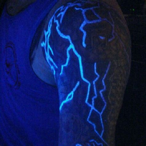 glow in the dark arm tattoo 60 glow in the dark tattoos for men uv black light ink