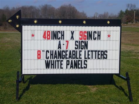 outdoor lighted changeable letter signs a 7 arrow outdoor portable lighted business