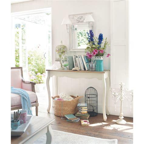 console maison du monde table console en bois blanche l 110 cm l 233 ontine maisons