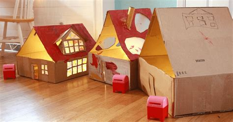 diy cardboard dollhouse  lights