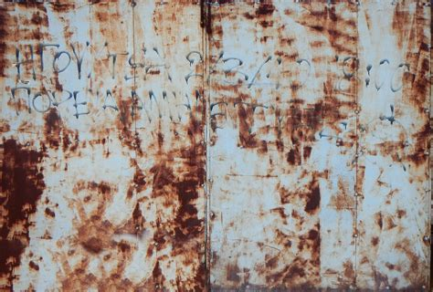 painting rust workshop rusted door rusted open padlock on the wooden door