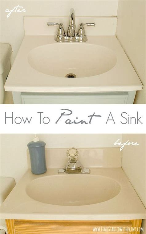 Paint Bathroom Sink Countertop by How To Paint A Sink Epoxy And Sinks