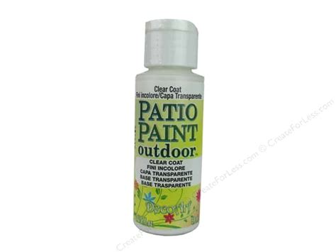 acrylic paint not covering decoart patio paint 2 oz clear coat createforless