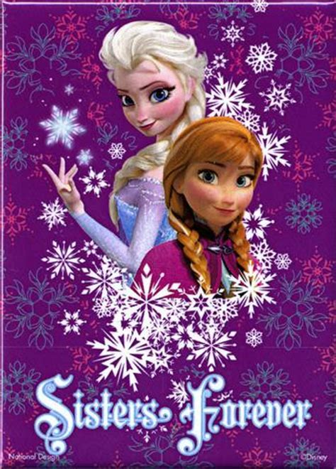 frozen sisters high resolution elsa and anna frozen anna and elsa sisters forever magnet magnet at
