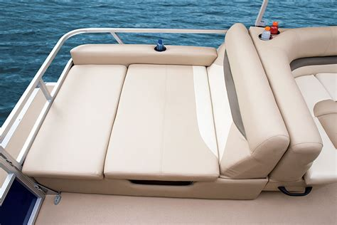 changing room for pontoon boat sun tracker signature series barge 24 xp3 boating world