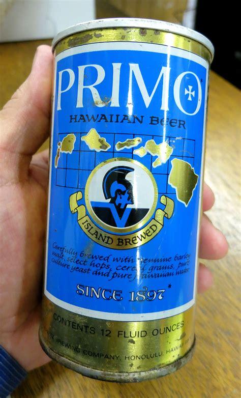 beer can primo beer vintage cans tasty island