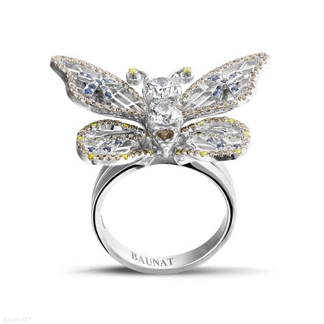 white gold rings 2 00 carat butterfly