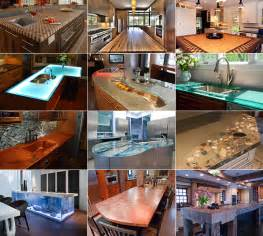 modern kitchen countertops from unusual materials 30 ideas kitchen design idea 5 unconventional materials you can