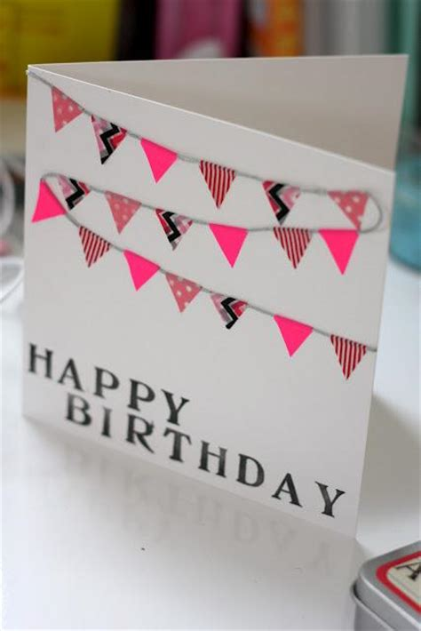 how to make pretty birthday cards easy washi greeting card paperblog
