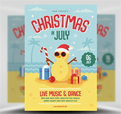 Christmas In July Flyer Template Flyerheroes In July Flyer Template