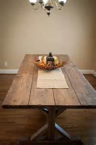 Wood Plank Kitchen Table White Farmhouse X Table Diy Projects