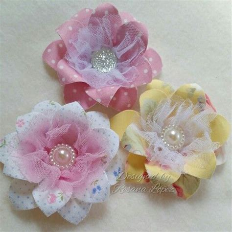 Handmade Flowers With Ribbons - 15 best images about my handmade flowers on