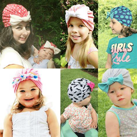 tutorial buat turban baby baby bow turban beanie pattern diy crush