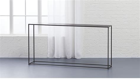 consol table mill narrow console table cb2
