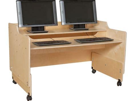 classroom computer tables mobile classroom computer desk 48 quot w children s computer furniture