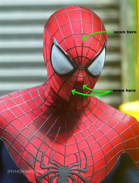 spiderman pattern print spider man amazing spiderman 2 suit costume pattern mask