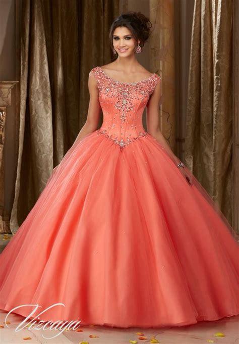 trajes para 15 anos este es un vestido color vestidos para quincea 241 era color coral vestidos en