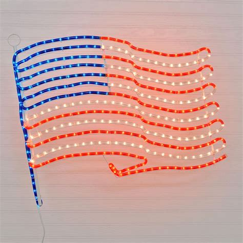 24 quot american flag rope light motif patriotic rope lights