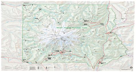 mt rainier national park map mapknitter mount rainier national park visitor map