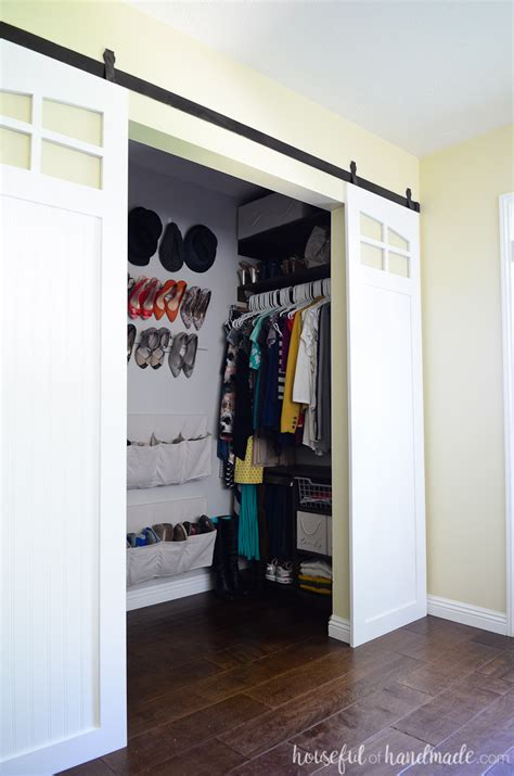Make Your Own Closet Doors Closet Sliding Barn Doors Build Plans A Houseful Of Handmade
