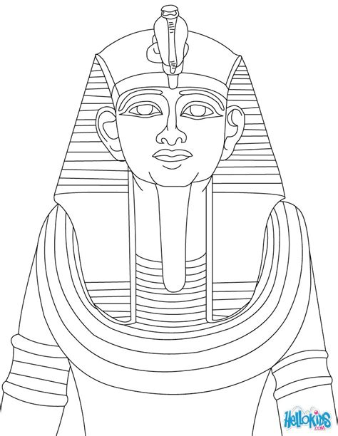 Ramses Ii Statue For Children Coloring Pages Hellokids Com Pharaoh Coloring Pages