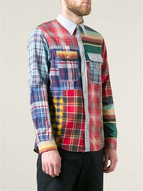 Patchwork Shirts - lyst ralph patchwork shirt for