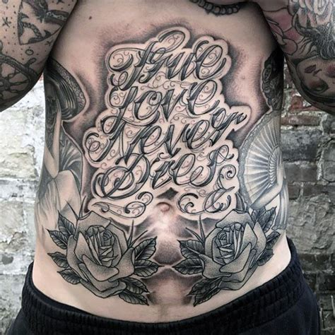 true love never dies tattoo designs 50 chest quote designs for phrase ink ideas